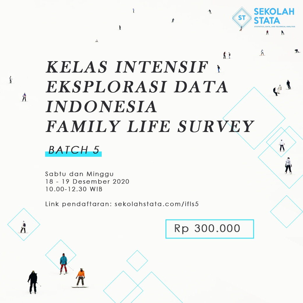 Kelas Intensif Eksplorasi Data Indonesia Family Life Survey (IFLS ) Batch 5 (DITUTUP)